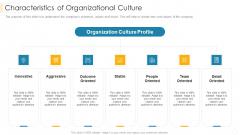 Characteristics Of Organizational Culture Inspiration PDF