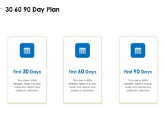 Charity Pitch Deck 30 60 90 Day Plan Rules PDF