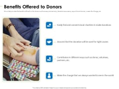 Charity Pitch Deck Benefits Offered To Donors Guidelines PDF