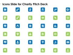Charity Pitch Deck Icons Slide For Charity Pitch Deck Slides PDF