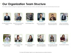 Charity Pitch Deck Our Organization Team Structure Background PDF