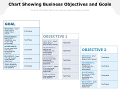 Chart Showing Business Objectives And Goals Ppt PowerPoint Presentation Infographic Template Vector