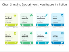 Chart Showing Departments Healthcare Institution Ppt PowerPoint Presentation Infographic Template Rules PDF