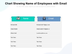 Chart Showing Name Of Employees With Email Ppt PowerPoint Presentation Icon Ideas PDF