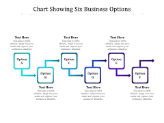 Chart Showing Six Business Options Ppt PowerPoint Presentation File Slideshow PDF