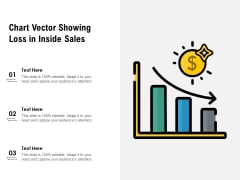 Chart Vector Showing Loss In Inside Sales Ppt PowerPoint Presentation Gallery Guide PDF