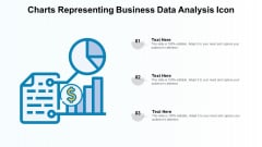 Charts Representing Business Data Analysis Icon Introduction PDF