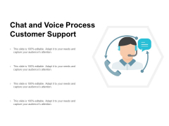Chat And Voice Process Customer Support Ppt PowerPoint Presentation Infographics Slides