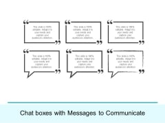 Chat Boxes With Messages To Communicate Ppt PowerPoint Presentation Professional Styles