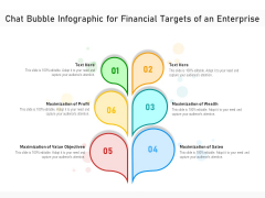 Chat Bubble Infographic For Financial Targets Of An Enterprise Ppt PowerPoint Presentation Gallery Visual Aids PDF