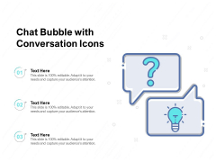 Chat Bubble With Conversation Icons Ppt PowerPoint Presentation Outline Smartart