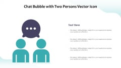 Chat Bubble With Two Persons Vector Icon Ppt PowerPoint Presentation File Background PDF