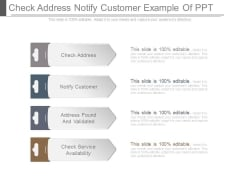 Check Address Notify Customer Example Of Ppt