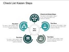 Check List Kaizen Steps Ppt Powerpoint Presentation Pictures Guide Cpb