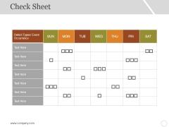 Check Sheet Ppt PowerPoint Presentation Professional Portfolio