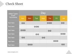 Check Sheet Ppt PowerPoint Presentation Topics