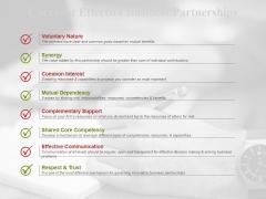 Checklist Effective Business Partnerships Ppt PowerPoint Presentation Slides Graphics Design