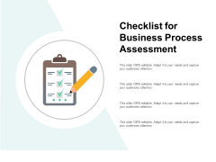 Checklist For Business Process Assessment Ppt PowerPoint Presentation Gallery Outline