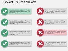 Checklist For Dos And Donts Powerpoint Template