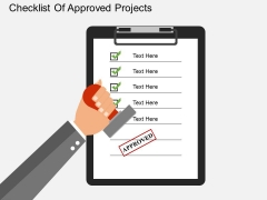 Checklist Of Approved Projects Powerpoint Template