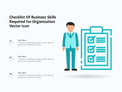 Checklist Of Business Skills Required For Organization Vector Icon Ppt PowerPoint Presentation Infographics Graphics Template PDF