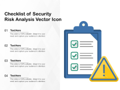 Checklist Of Security Risk Analysis Vector Icon Ppt PowerPoint Presentation File Elements PDF