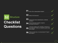 Checklist Questions Template 1 Ppt PowerPoint Presentation Portfolio Format