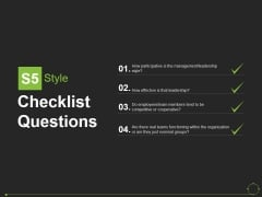 Checklist Questions Template 4 Ppt PowerPoint Presentation Portfolio Demonstration