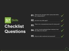 Checklist Questions Template 6 Ppt PowerPoint Presentation Outline Deck