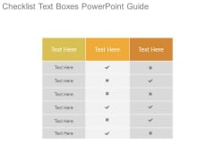 Checklist Text Boxes Powerpoint Guide
