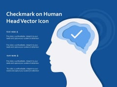 Checkmark On Human Head Vector Icon Ppt PowerPoint Presentation Ideas Design Templates PDF