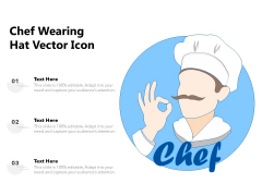 Chef Wearing Hat Vector Icon Ppt PowerPoint Presentation File Background Image PDF