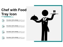 Chef With Food Tray Icon Ppt PowerPoint Presentation Layouts Themes