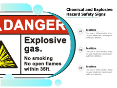 Chemical And Explosive Hazard Safety Signs Ppt PowerPoint Presentation Icon Diagrams PDF