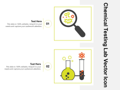 Chemical Testing Lab Vector Icon Ppt PowerPoint Presentation Gallery Example File PDF