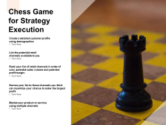 Chess Game For Strategy Execution Ppt PowerPoint Presentation Show Brochure