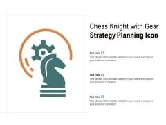 Chess Knight With Gear Strategy Planning Icon Ppt PowerPoint Presentation Ideas Files