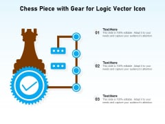 Chess Piece With Gear For Logic Vector Icon Ppt PowerPoint Presentation Gallery Visual Aids PDF