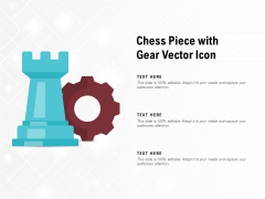 Chess Piece With Gear Vector Icon Ppt PowerPoint Presentation Infographic Template Visual Aids