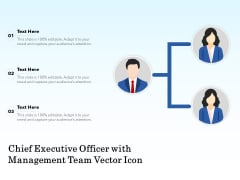 Chief Executive Officer With Management Team Vector Icon Ppt PowerPoint Presentation Examples PDF