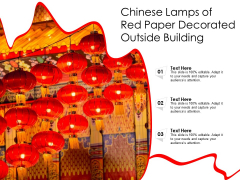 Chinese Lamps Of Red Paper Decorated Outside Building Ppt PowerPoint Presentation Summary Examples PDF