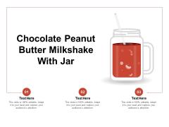 Chocolate Peanut Butter Milkshake With Jar Ppt PowerPoint Presentation Slides Example Topics PDF
