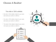 Choose A Realtor Ppt PowerPoint Presentation Infographic Template