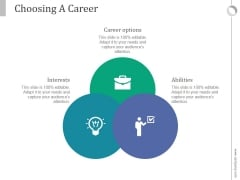 Choosing A Career Ppt PowerPoint Presentation Show