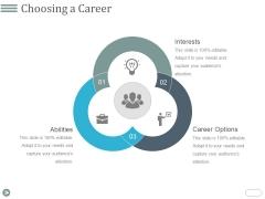 Choosing A Career Ppt PowerPoint Presentation Styles Styles