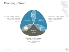 Choosing A Career Ppt PowerPoint Presentation Themes