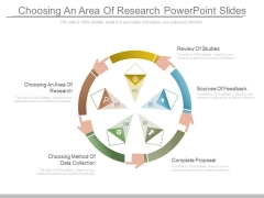Choosing An Area Of Research Powerpoint Slides