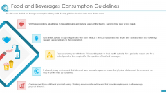 Cinemas Food And Beverages Consumption Guidelines Ppt Icon Vector PDF