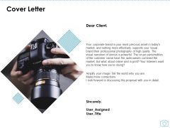 Cinematography Project Proposal Cover Letter Ppt Icon Graphics Template PDF