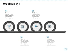 Cinematography Project Proposal Roadmap Four Stages Ppt Slides Example PDF